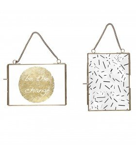 Set of 2 frames hanging Hubsch