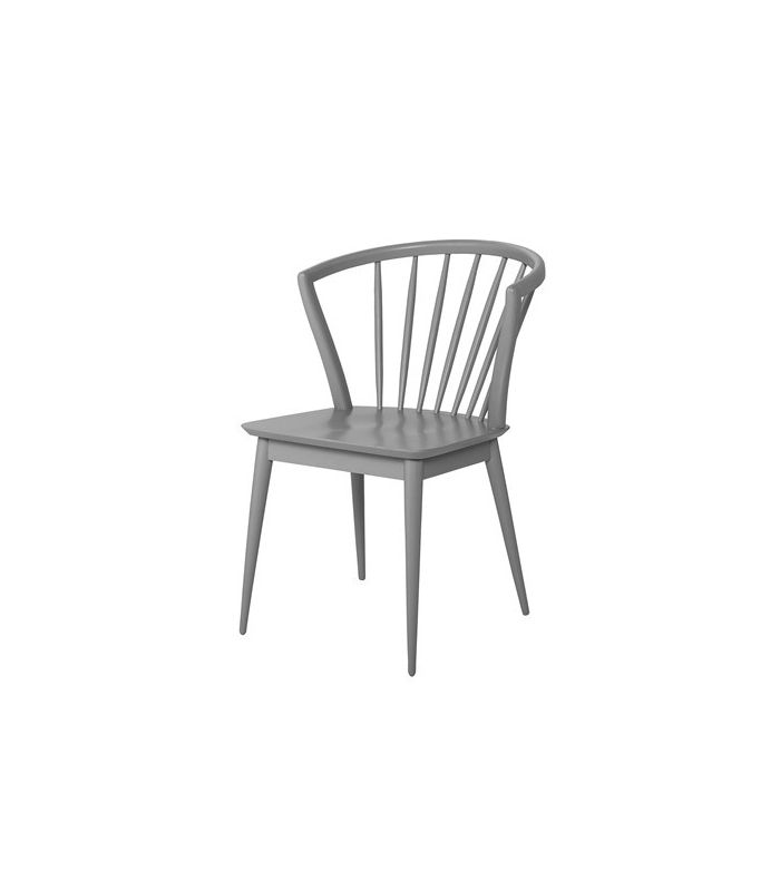 Chaise laura grise bloomingville for Chaise grise bois