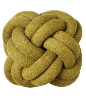 Coussin Knot jaune