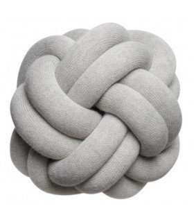 Knot gray cushion