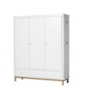 Armoire Wood multi-rangement Oliver Furniture