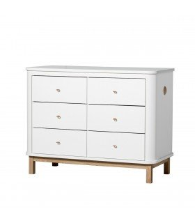 Commode Wood 6 tiroirs Oliver Furniture
