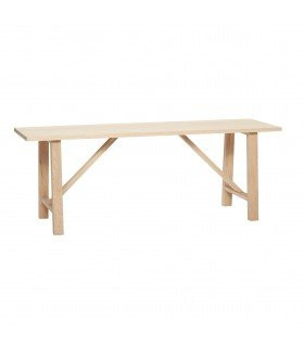 Bench oak natural 80x27xh48cm Hubsch