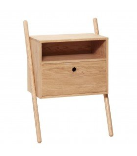Natural oak bedside Hubsch