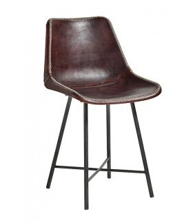 Leather chair metal NORDAL
