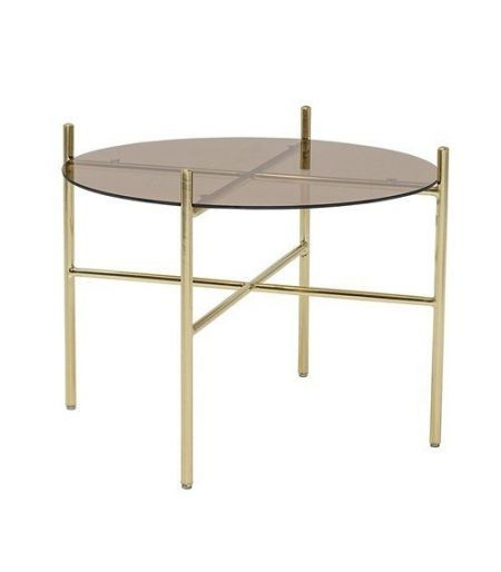 Table Basse Marron en verre Lucca Bloomingville