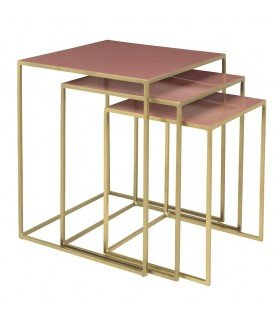 Tables gigogne Freja rose dawn Broste Copenhagen