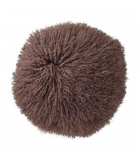 Round cushion fur of black lamb BLOOMINGVILLE