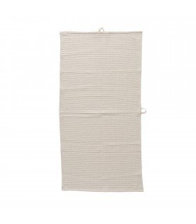 Serviette marron nid d'abeille Bloomingville