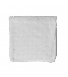 Serviette blanche ronds Bloomingville