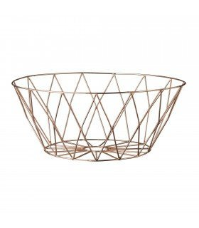 Round basket copper