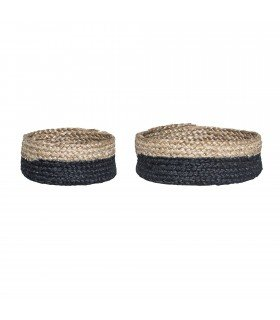 Paniers ronds noirs Bloomingville (set de 2)