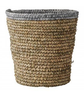 Round raffia baskets (set of 2)
