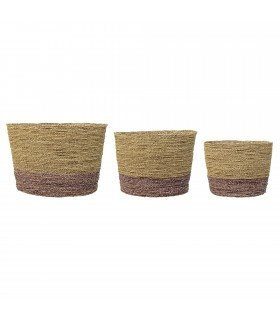 Paniers ronds Bloomingville (assortiment de 3)