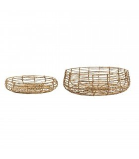 Set de 2 paniers ronds Bloomingville