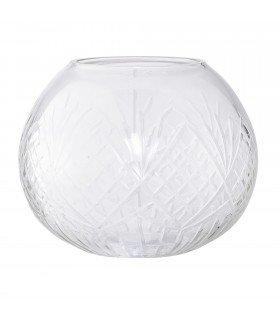 Vase rond transparent Bloomingville