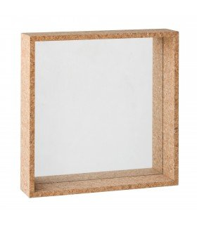 Square wood frame mirror BLOOMINGVILLE