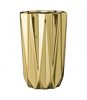 Porcelain vase gold