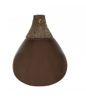 Ceramic Vase black and liege BLOOMINGVILLE