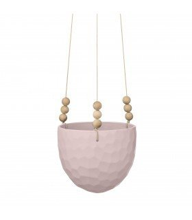 Petit pot suspendu rose Bloomingville