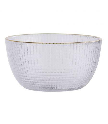 Bowl-white & gold with saucer Bloomingville X6
