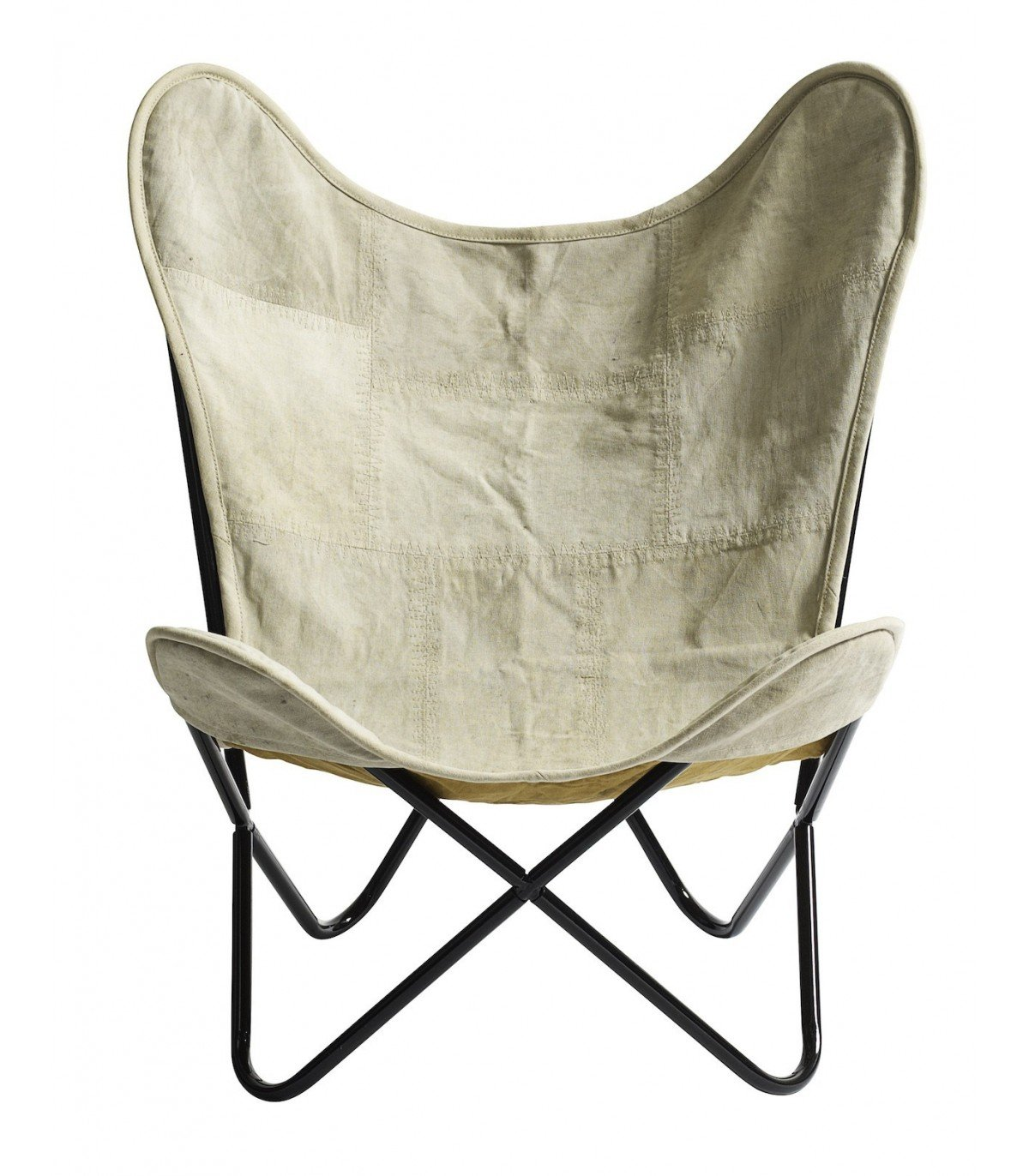 leather butterfly chair metal brown nordal