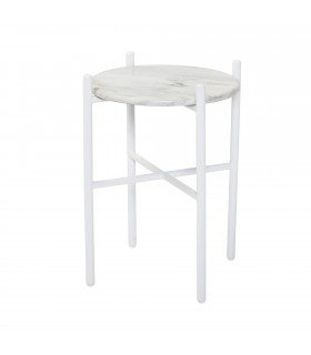 Table Earth Pedestral Blanche