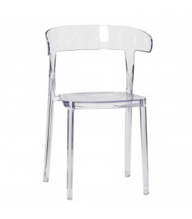 Transparent plastic chair
