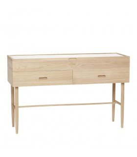 Oak commode 2 drawers / 2 doors