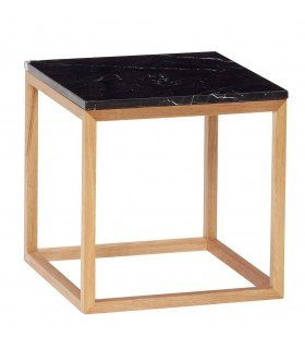 Table basse cube noire Hubsch