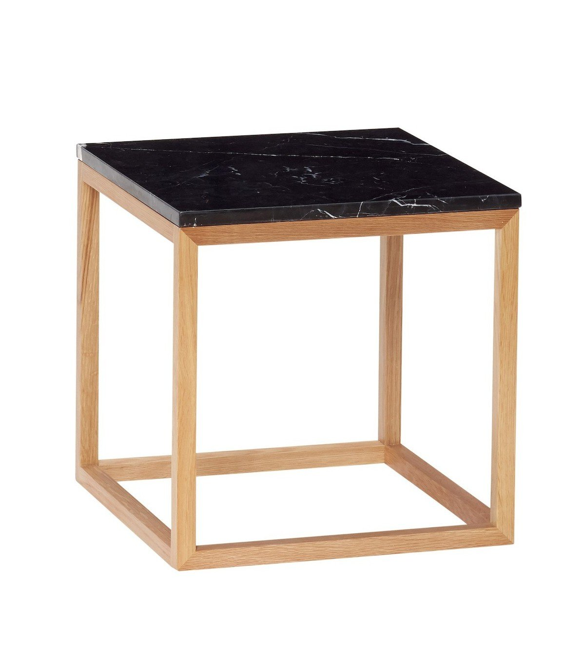 Table basse cube noire hubsch - Tables basses noires ...