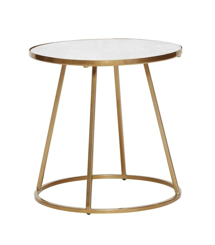 Petite table basse blanche or h bsch for Petite table basse blanche