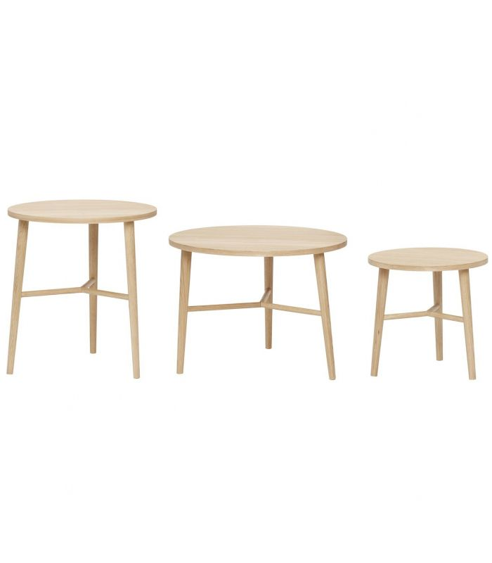 Table ronde hubsch set de 3 for Petites tables rondes