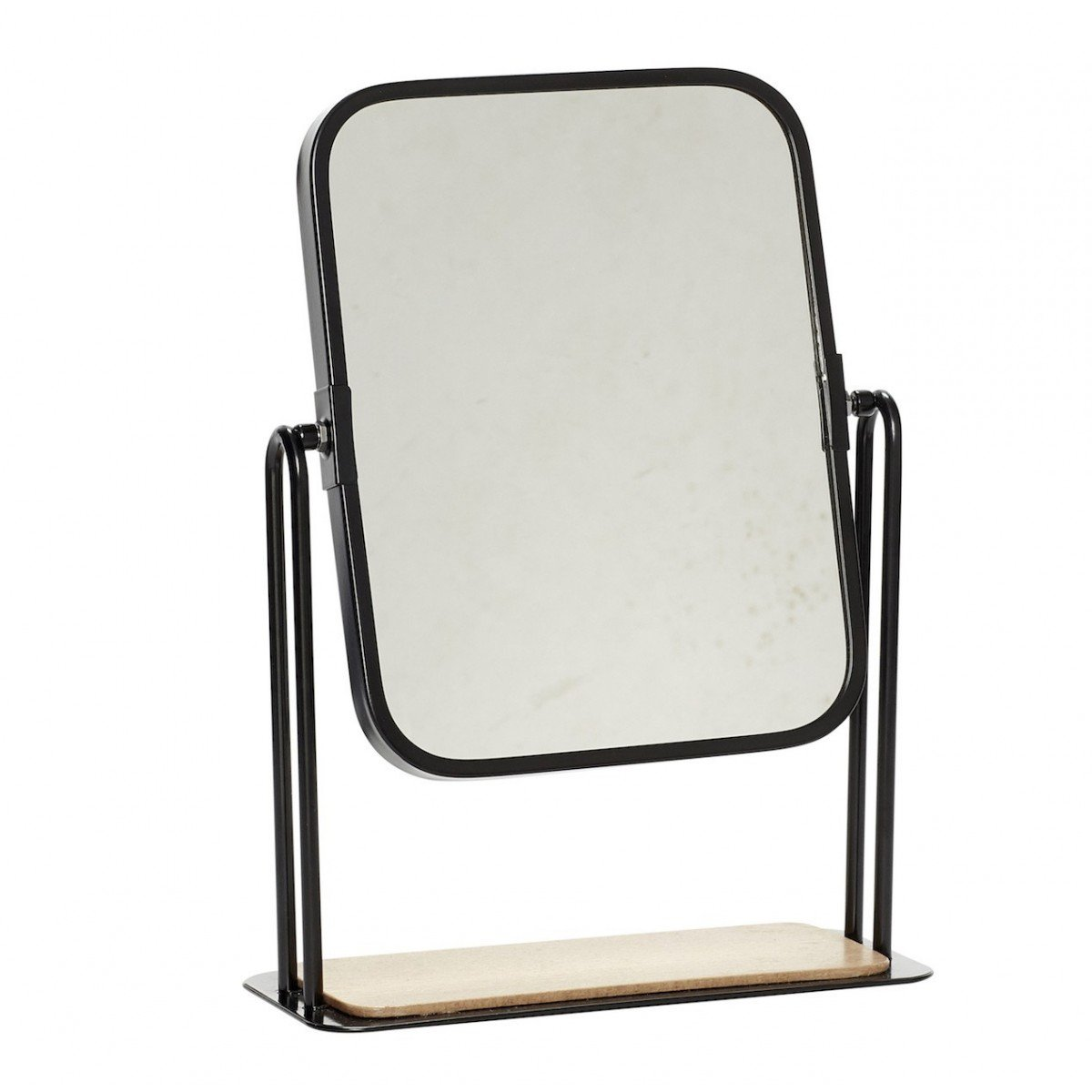 Miroir de table rectangulaire noir h bsch for Miroir rectangulaire noir