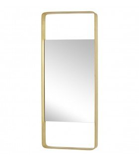 Rectangular brass mirror Hbsch