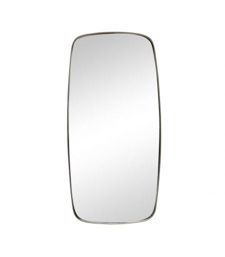 Wall mirror rounded metal Hübsch