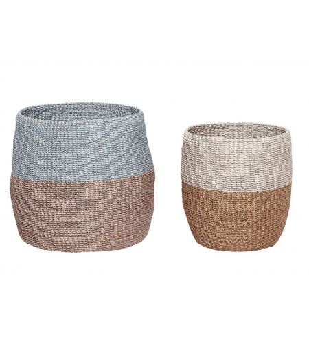 Packed with colourful Hübsch (Set of 2)