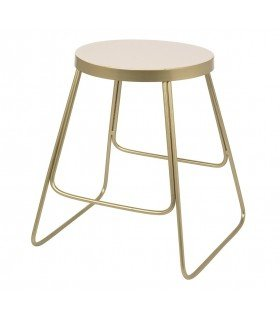 Tricia Stool red brass