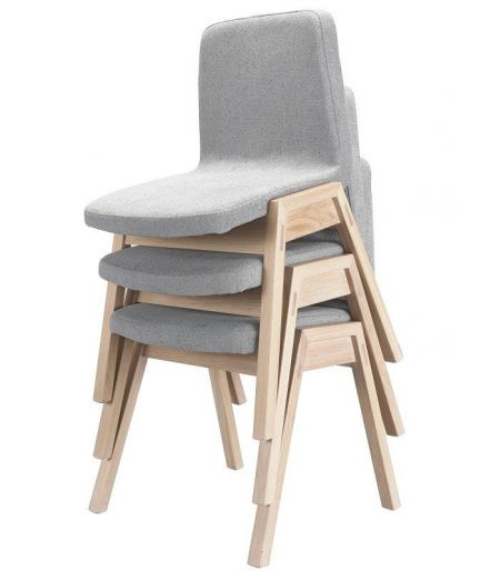 Chaise grise Pensil chêne Wewood