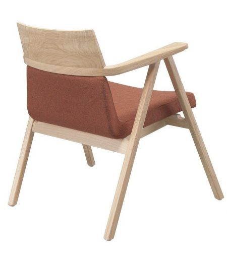 Grand fauteuil terracotta chêne Pensil Wewood