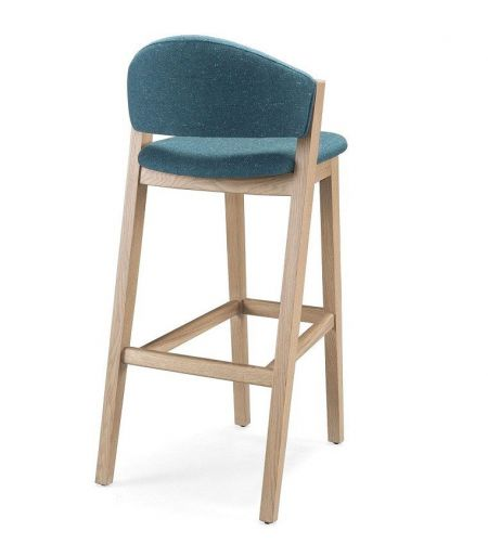 Bar stool turquoise oak Wewood