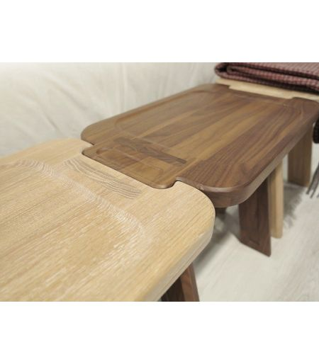 Stool Multibanqueta walnut Wewood