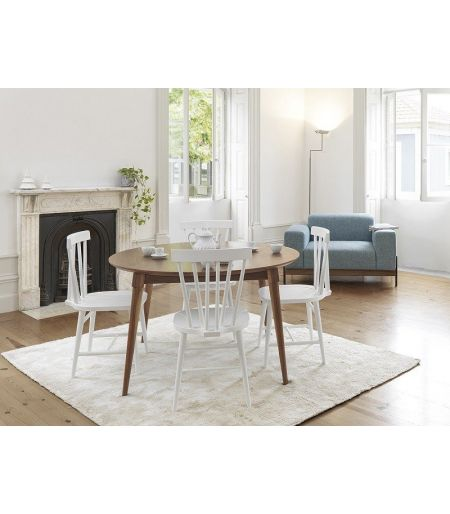 Chaise Codfish blanche Wewood