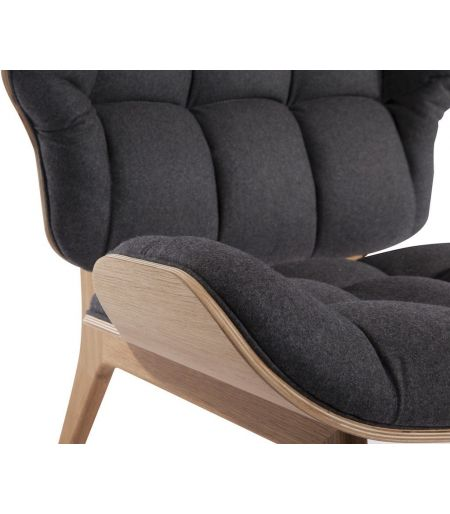 Chair Mammoth wool charcoal grey Norr11