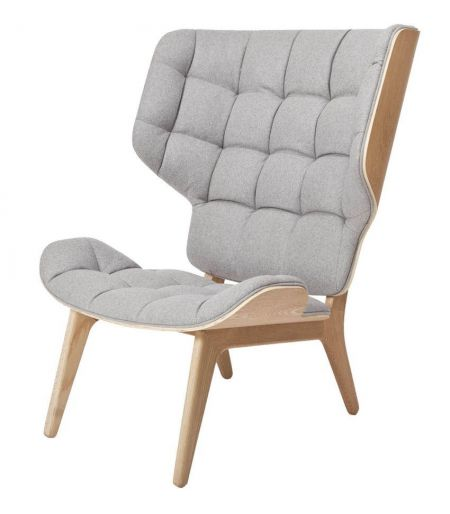 Fauteuil Mammoth laine gris clair Norr11
