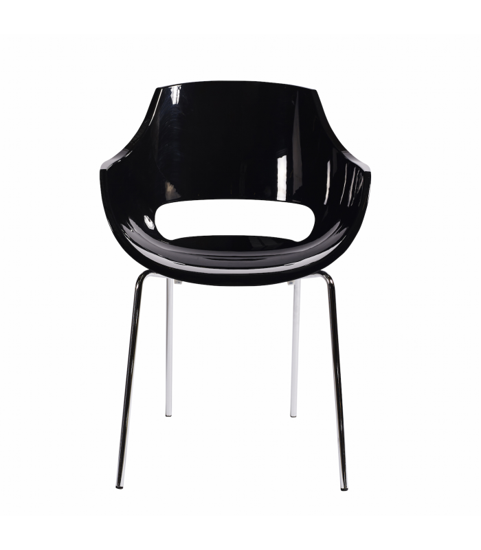 Chaise opale noire Muubs