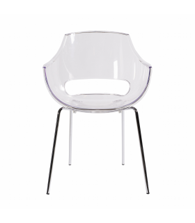 Chaise en plastique transparent chaise en plastique for Fauteuil eames transparent