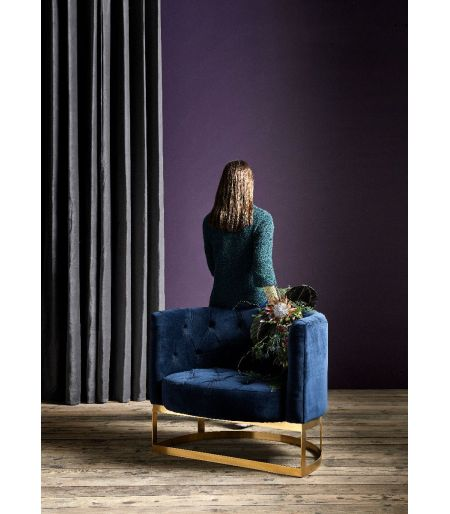 Armchair upholstered Lounge dark blue Nordal