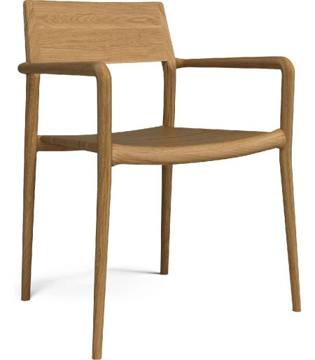 Chicago chair with arm oak Bolia