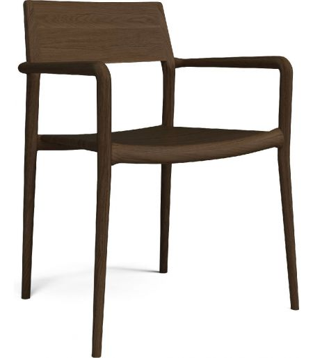 Chicago chair with arm smoked oak Bolia